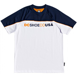 Textiel Heren T-shirts korte mouwen DC Shoes Brookledge ss Wit