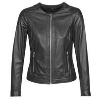 Textiel Dames Leren jas / kunstleren jas Oakwood PLEASE Zwart