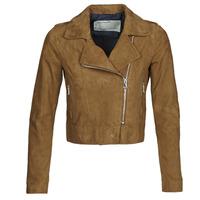 Textiel Dames Leren jas / kunstleren jas Oakwood PHOEBE Cognac / Suede