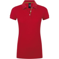 Textiel Dames Polo's korte mouwen Sols PATRIOT FASHION WOMEN Rojo