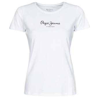 Textiel Dames T-shirts korte mouwen Pepe jeans NEW VIRGINIA Wit