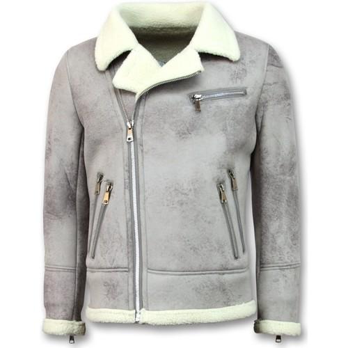 Textiel Heren Wind jackets Tony Backer Imitatie Bontjas - Lammy Coat - Grijs