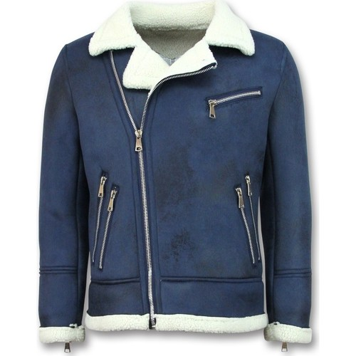 Textiel Heren Wind jackets Tony Backer Imitatie Bontjas - Lammy Coat - Blauw