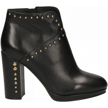 Schoenen Dames Low boots Café Noir TRONCHETTO TACCO ALTO E PLATEAUX CON APERTURA DAVA 010-nero