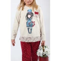Textiel Meisjes Pyjama's / nachthemden Admas Pyjama broek lange mouwen The Hatter ivoor Santoro London Geel