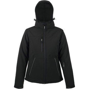 Textiel Dames Wind jackets Sols ROCK WOMEN WINTER - SOFTSHELL ACOLCHADO Negro