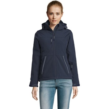 Textiel Dames Trainings jassen Sols ROCK WOMEN WINTER - SOFTSHELL ACOLCHADO Azul