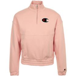 Textiel Dames Sweaters / Sweatshirts Champion Half Zip Sweatshirt Roze
