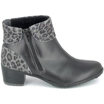 Schoenen Dames Enkellaarzen Boissy Boots Noir Leopard Zwart