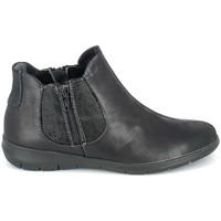 Schoenen Dames Laarzen Boissy Boots Noir texturé Zwart