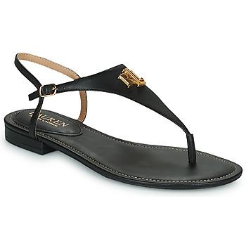 Schoenen Dames Sandalen / Open schoenen Lauren Ralph Lauren ELLINGTON SANDALS CASUAL Zwart