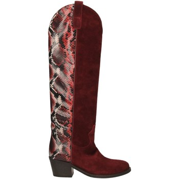 Schoenen Dames Hoge laarzen Via Roma 15 TEXANO ALTO 347 chianti-rosso