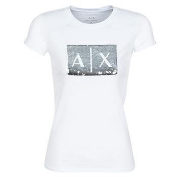 Textiel Dames T-shirts korte mouwen Armani Exchange HANEL Wit