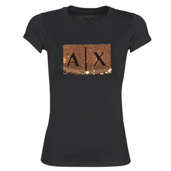 Textiel Dames T-shirts korte mouwen Armani Exchange HONEY Zwart