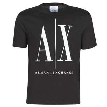 Textiel Heren T-shirts korte mouwen Armani Exchange HULO Zwart