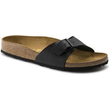 Schoenen Heren Leren slippers Birkenstock MADRID Noir