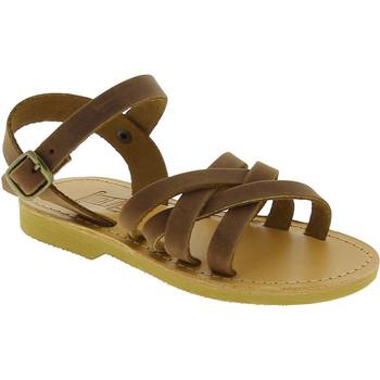 Schoenen Meisjes Sandalen / Open schoenen Attica Sandals HEBE NUBUK DK BROWN Marrone medio