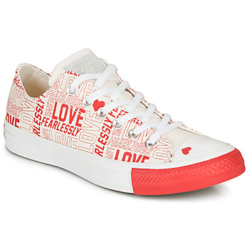 Schoenen Dames Lage sneakers Converse CHUCK TAYLOR ALL STAR - OX Wit / Rood