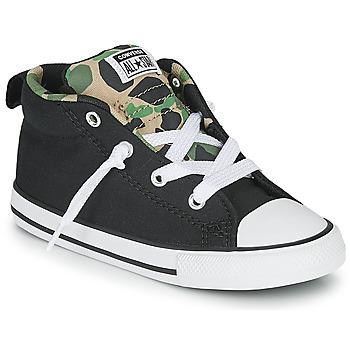 Schoenen Jongens Lage sneakers Converse CHUCK TAYLOR ALL STAR STREET CAMO - MID Zwart / Kaki