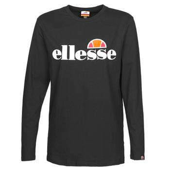 Textiel Dames T-shirts met lange mouwen Ellesse GRAZIE Zwart