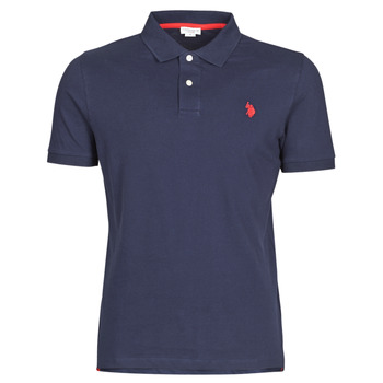 Textiel Heren Polo's korte mouwen U.S Polo Assn. INSTITUTIONAL POLO Marine