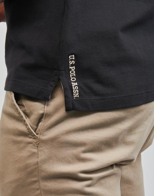 U.s Polo Assn. Institutional Zwart - Gratis Levering Textiel Polo\'s Korte Mouwen Heren 3999
