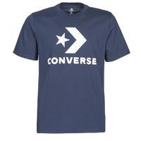 Textiel Heren T-shirts korte mouwen Converse Star Chevron Tee Blauw