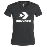 Textiel Dames T-shirts korte mouwen Converse STAR CHEVRON TEE Zwart