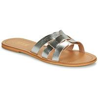Schoenen Dames Leren slippers So Size MELINDA Zilver