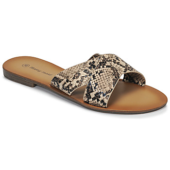 Schoenen Dames Leren slippers Moony Mood MADISON Slang