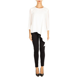 Textiel Dames Tops / Blousjes Liu Jo BLUSA M/LUNGA x0181-light-white-milk