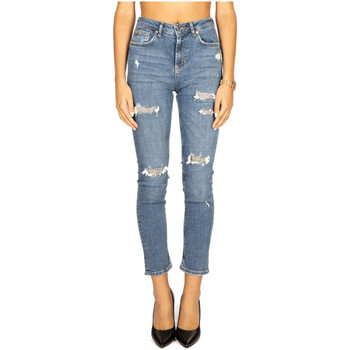 Textiel Dames ¾ jeans & 7/8 jeans Liu Jo Blue Denim B.UP CUTE H.W. 77981-denim-blue-glam-wash