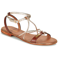 Schoenen Dames Sandalen / Open schoenen Les Tropéziennes par M Belarbi HIRONDEL Tan / Goud