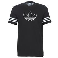 Textiel Heren T-shirts korte mouwen adidas Originals OUTLINE TEE Zwart