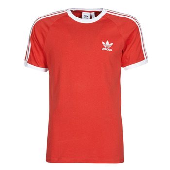 Textiel Heren T-shirts korte mouwen adidas Originals 3-STRIPES TEE Rood / Luxuriant