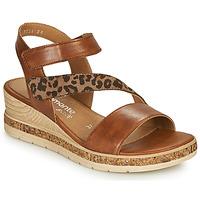 Schoenen Dames Sandalen / Open schoenen Remonte Dorndorf HERNENDEZ Cognac / Luipaard