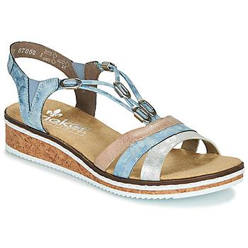 Schoenen Dames Sandalen / Open schoenen Rieker LAKTOS Blauw