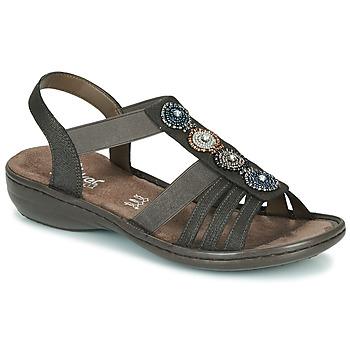 Schoenen Dames Sandalen / Open schoenen Rieker ANOUCK Zwart