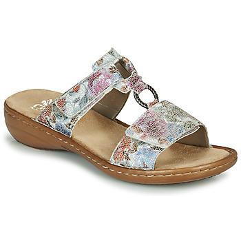 Schoenen Dames Leren slippers Rieker MOLA Multi