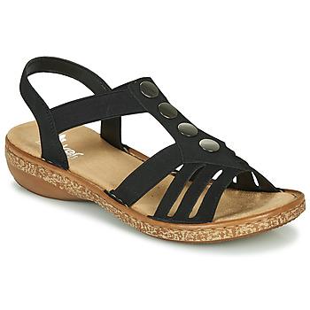 Schoenen Dames Sandalen / Open schoenen Rieker NEX Zwart