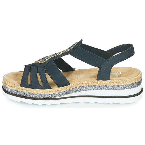 Rieker LOUANN Zwart - Gratis levering  Schoenen Sandalen Dames