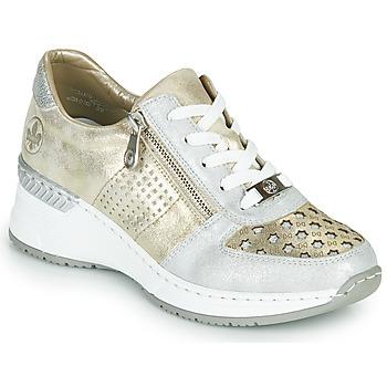 Schoenen Dames Lage sneakers Rieker LEA Goud / Zilver