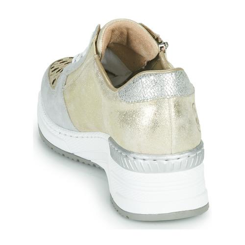 Rieker Lea Goud / Zilver - Gratis Levering Schoenen Lage Sneakers Dames 6495