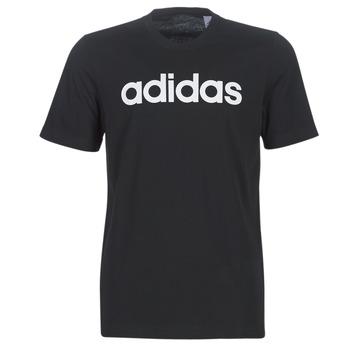 Textiel Heren T-shirts korte mouwen adidas Performance E LIN TEE Zwart