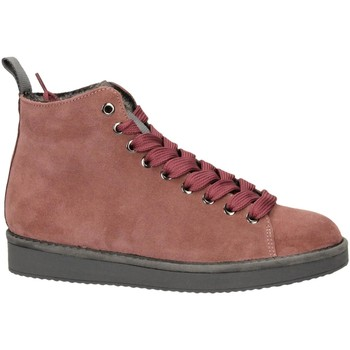 Schoenen Dames Hoge sneakers Panchic P01 MID CUT SUEDE LINING ECO FUR brownrose-rosa