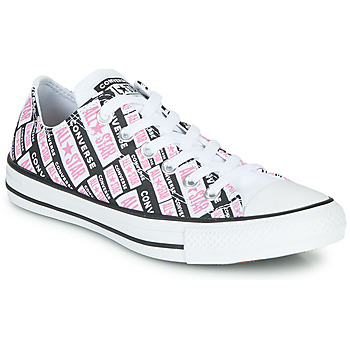 Schoenen Dames Hoge sneakers Converse CHUCK TAYLOR ALL STAR LOGO PLAY Wit / Roze / Zwart