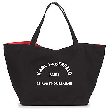 Tassen Dames Tote tassen / Boodschappentassen Karl Lagerfeld RUE ST GUILLAUE CANVAS TOTE Zwart