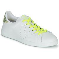 Schoenen Dames Lage sneakers Victoria TENIS PIEL FLUO Wit / Geel