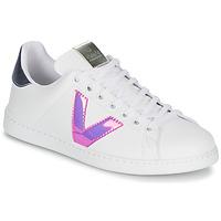 Schoenen Dames Lage sneakers Victoria TENIS VINILO Wit / Blauw