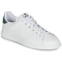 Schoenen Dames Lage sneakers Victoria TENIS PIEL SERPIENTE Wit / Blauw
